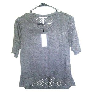 NWT BCBGeneration Small Charcoal Grey Crop Top